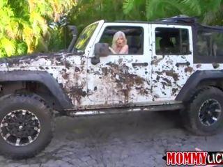 Sexy Mädchen Heiß Muschi Jeep Cumming auf